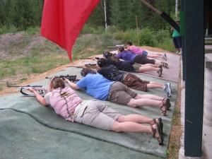 ladies prone shooting
